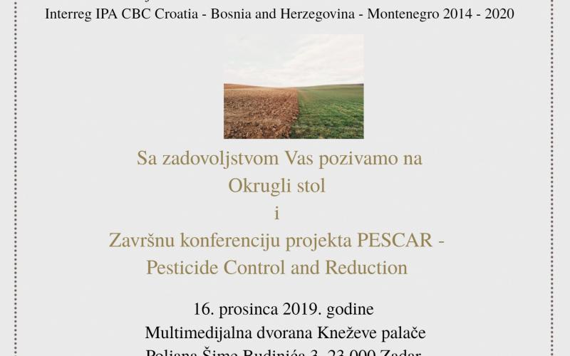 Poziv na Okrugli stol i Završnu konferenciju projekta PESCAR
